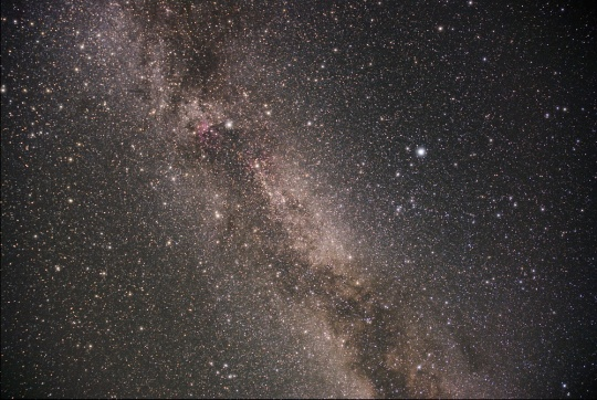 The Cygnus Milky Way as imaged by the author at the Mount Kobau Star Party